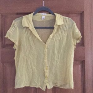 Sheer yellow blouse